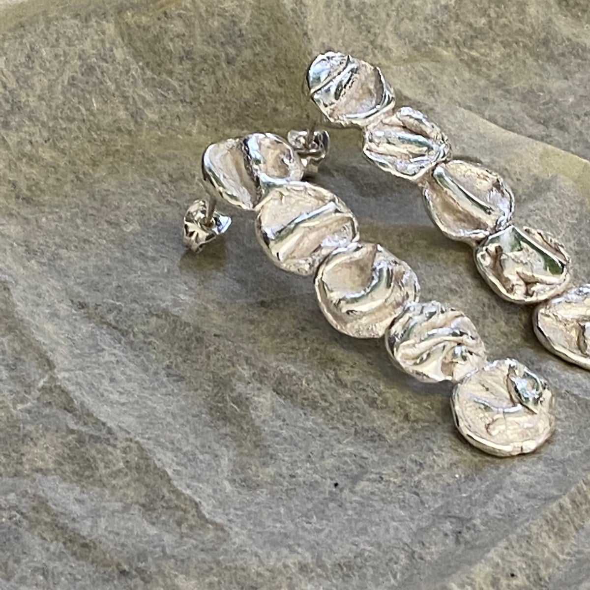 Image of Long Droplet  Uisce Earrings