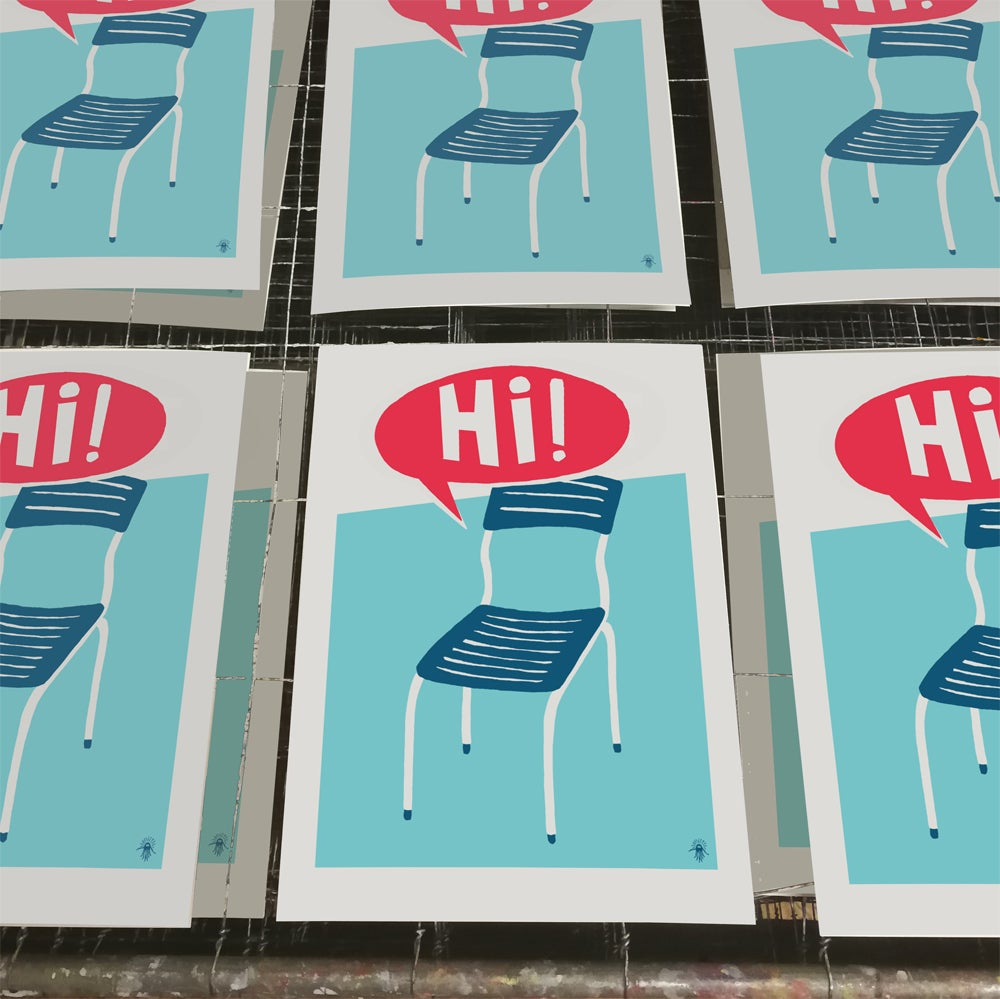 "Image of ""Hi!"" (mini-print)"