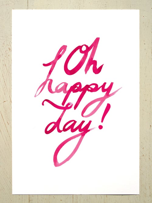 Image of Oh happy day A4 art prints