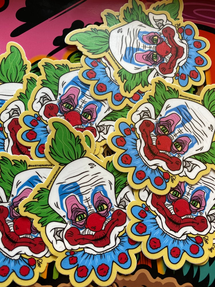 """Image of Killer Klowns 4"""" Stickers"""