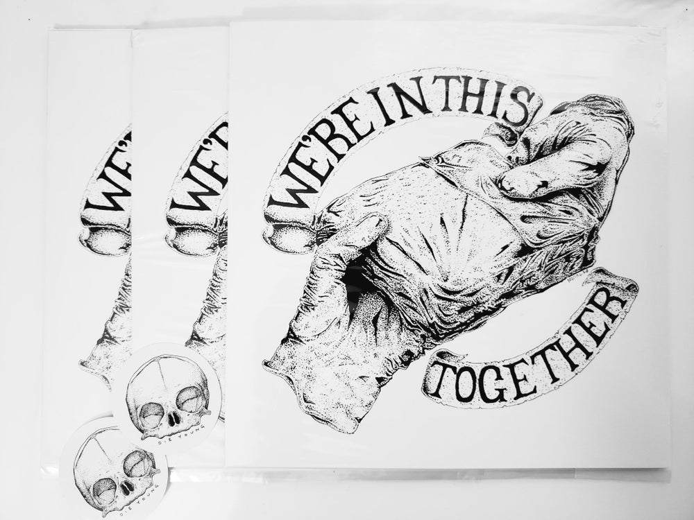 """Image of 8"""" x 8"""" We're In This Together print"""