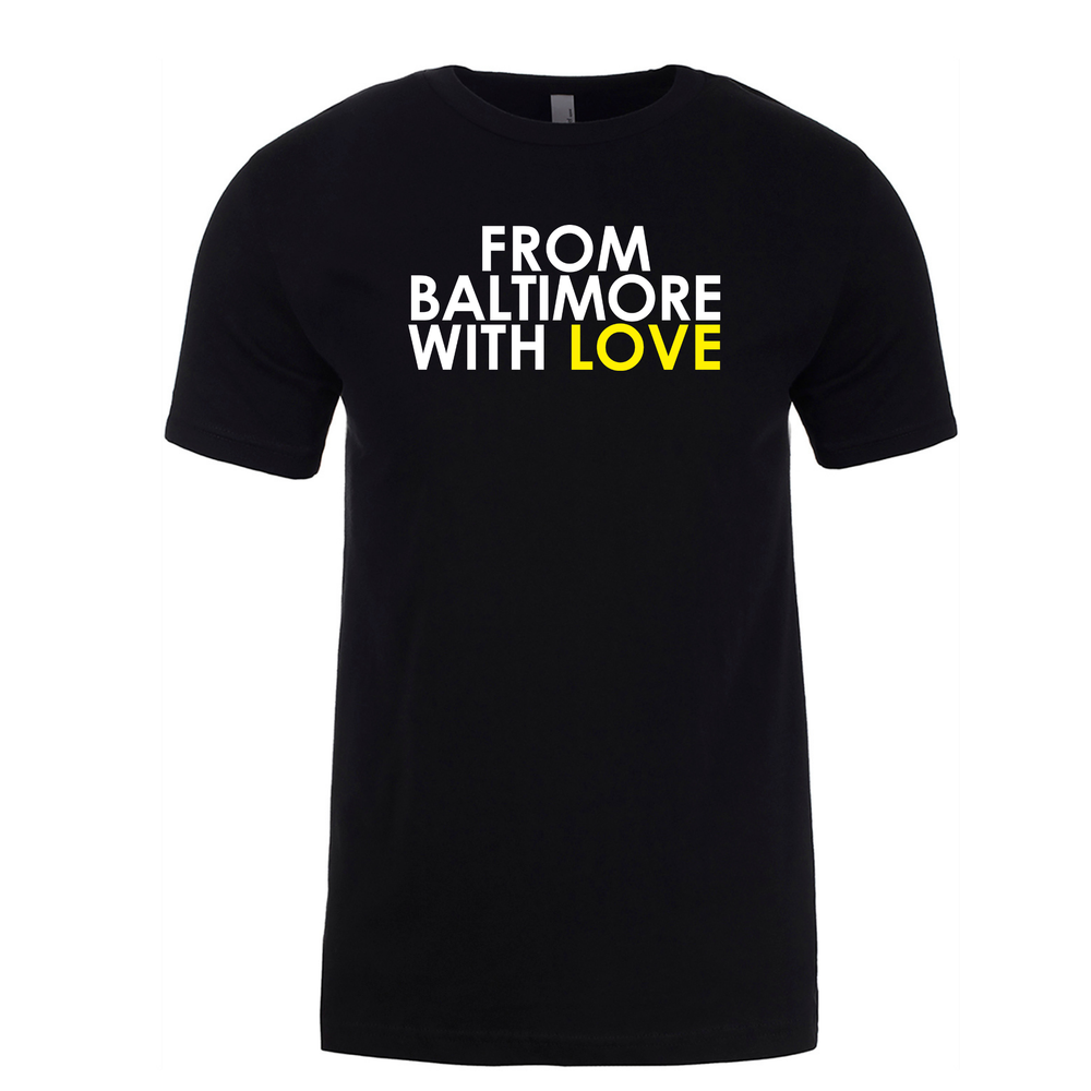 Image of From Baltimore With Love Original SS T-Shirt - Black/Yellow