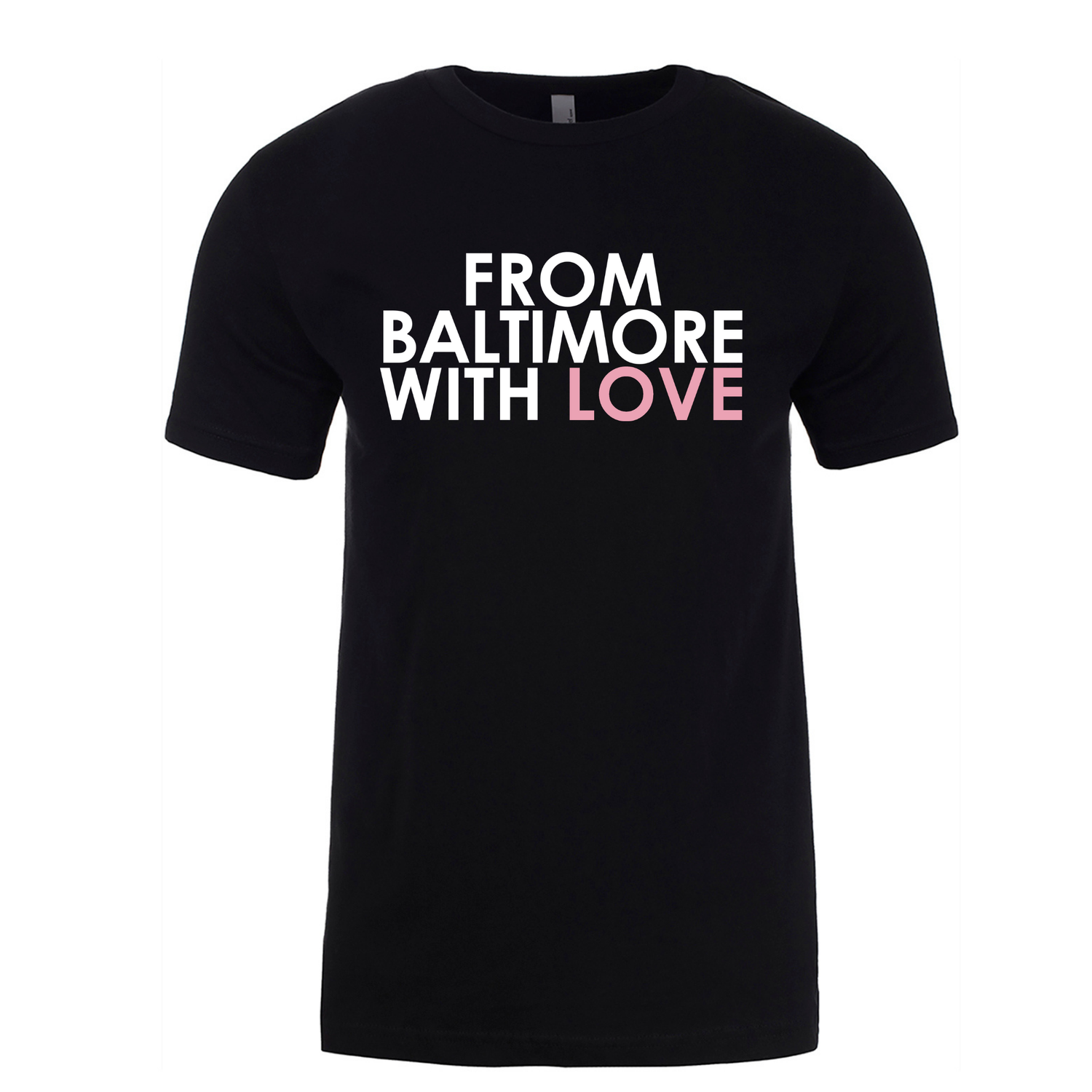 Image of From Baltimore With Love Original SS T-shirt - Black/Pink