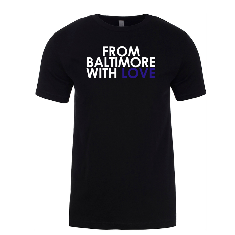 Image of From Baltimore With Love Original SS T-Shirt - Black/Purple