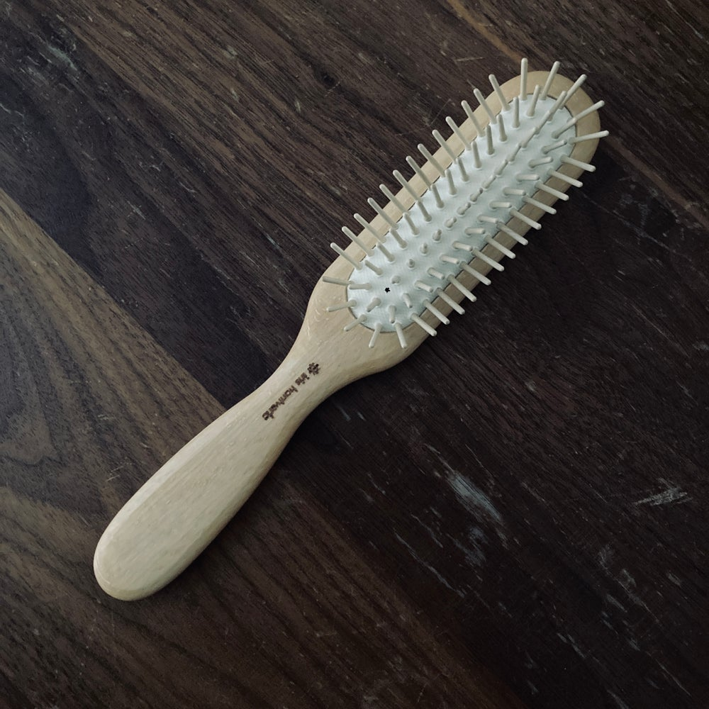 Image of Wooden Pinned Hairbrush