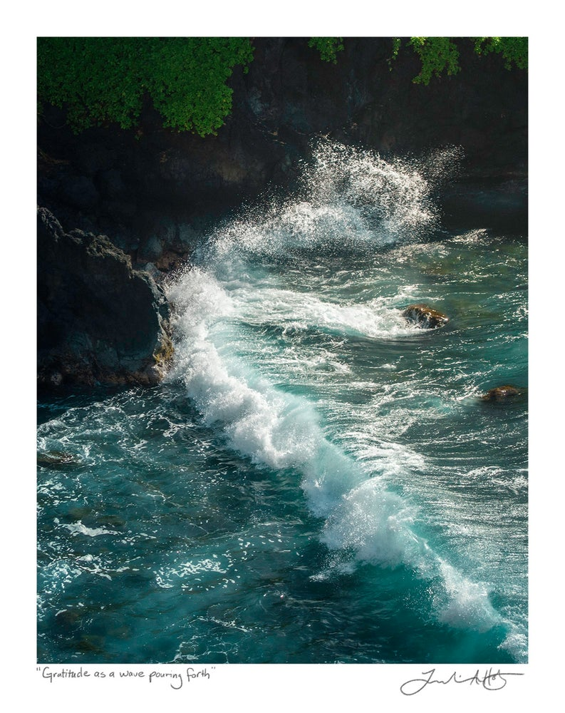 """Image of """"Gratitude As a Wave Pouring Forth"""" Print"""