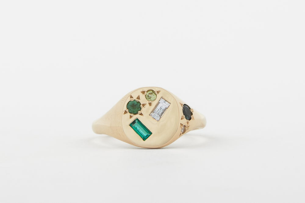 Image of Green Treasure ring