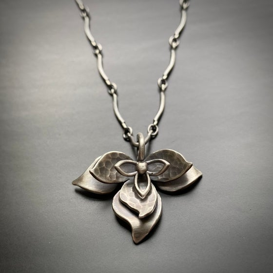 Image of Open Lotus Sterling PENDANT