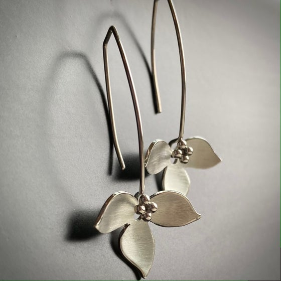 Image of Lotus Earrings-silver