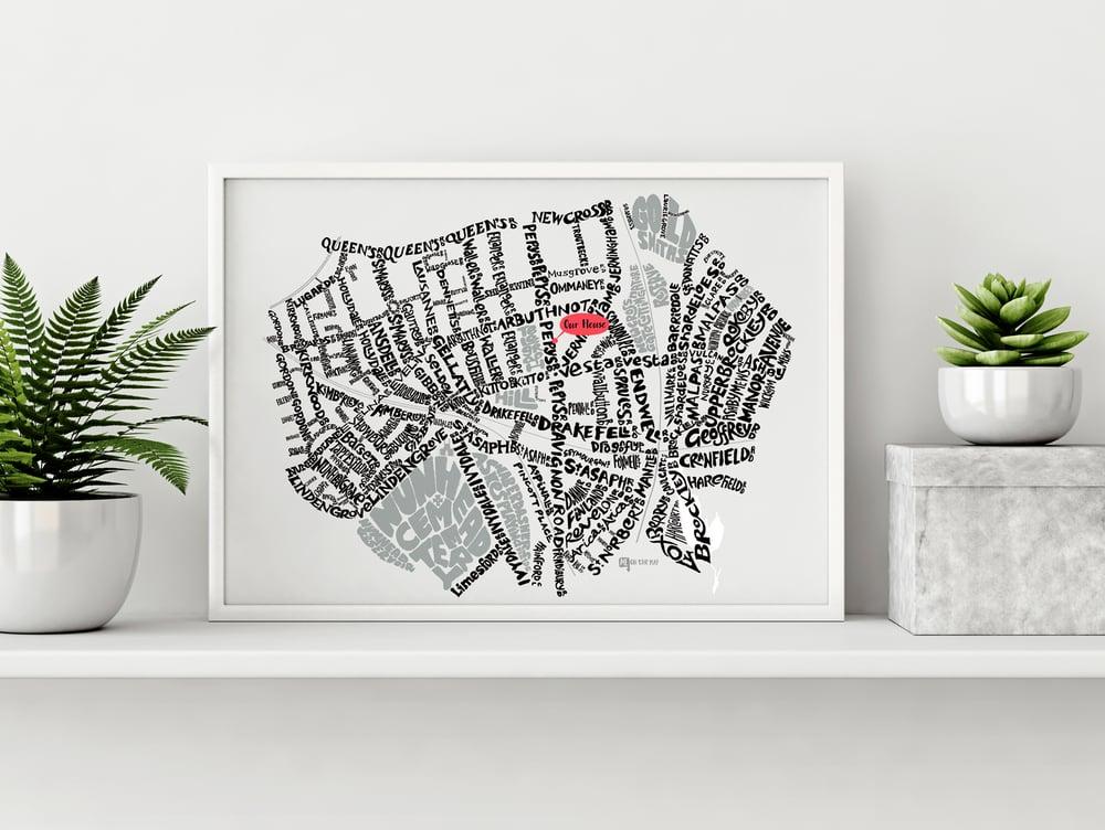 Image of Telegraph Hill SE14 - SE4 - SE London Type Map - White