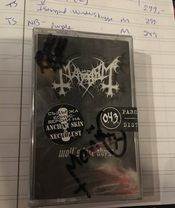 Image of Mayhem Tape RARE sign Hellhammer &Maniac