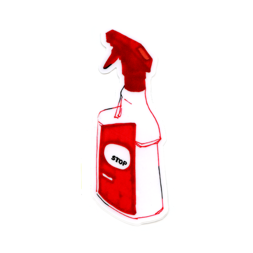 Image of 'Stop' Spray Bottle Sticker