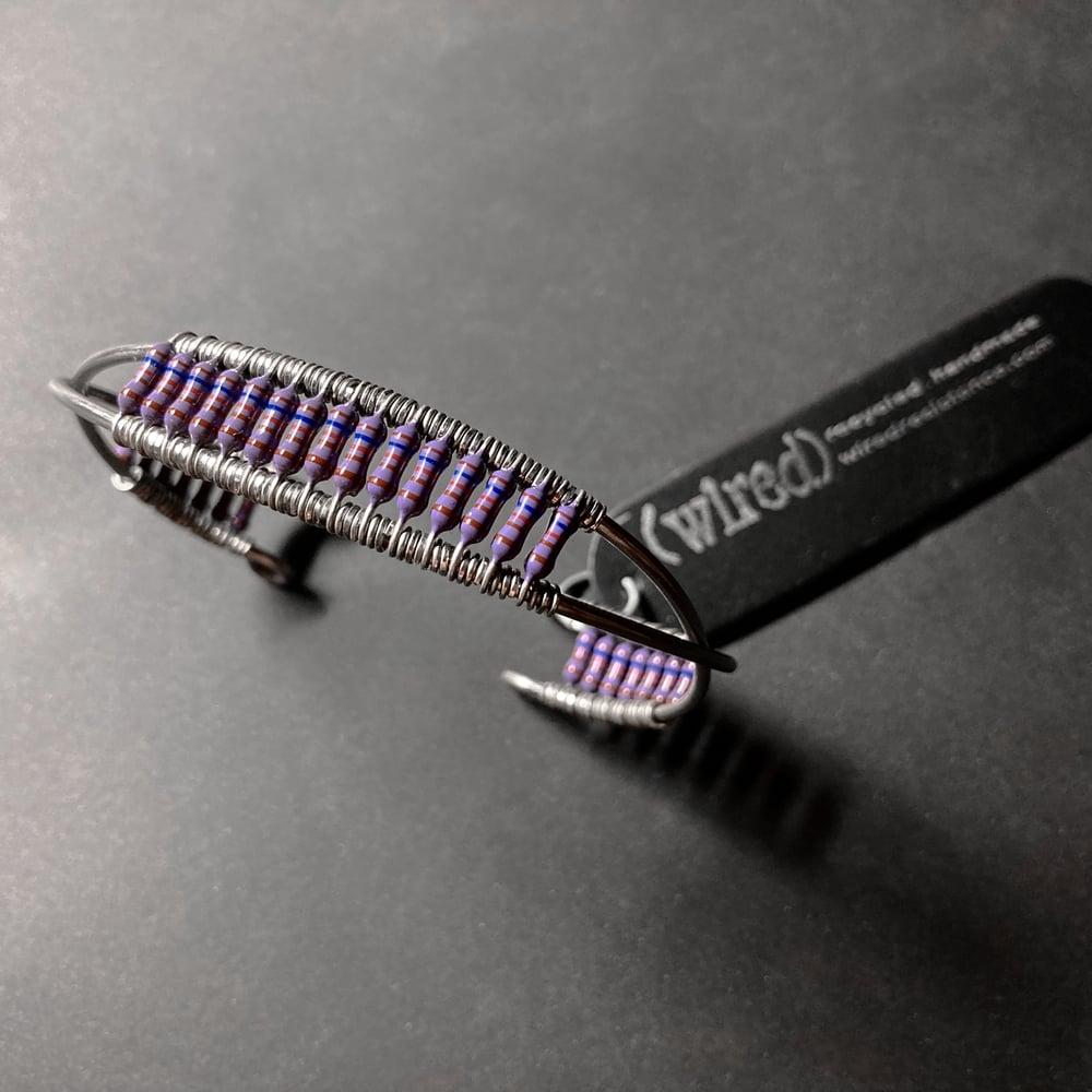 Image of Cross-Resist Cuff - Dark Purple in Dark Blue Tin