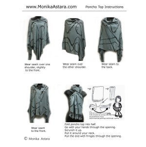 Image of Reversible Poncho Top - Wear 6 ways - Great Gift
