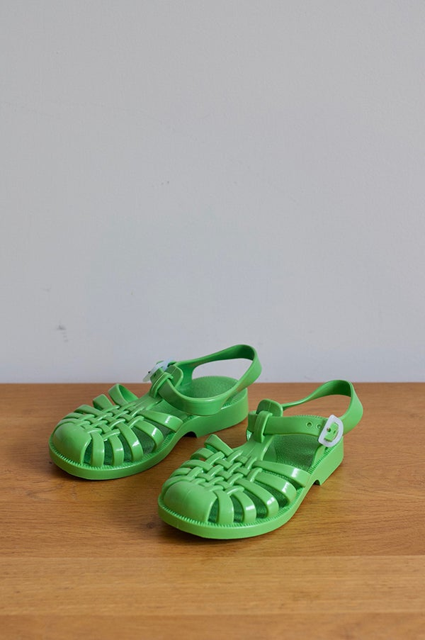 Image of French SunJelly Sandals — Pastel Green