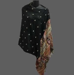 Image of Reversible Poncho top - black/multi -Wear 6 Ways