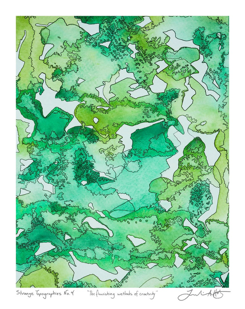 "Image of Strange Topographies No.4 ""The Flourishing Wetlands of Creativity"" Print"