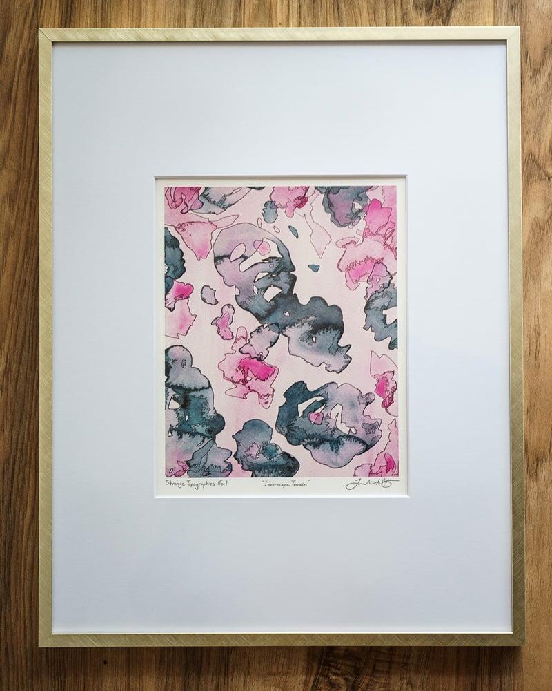 "Image of Strange Topographies No. 6 ""Cerebral Oceans"" 5x7 Print"
