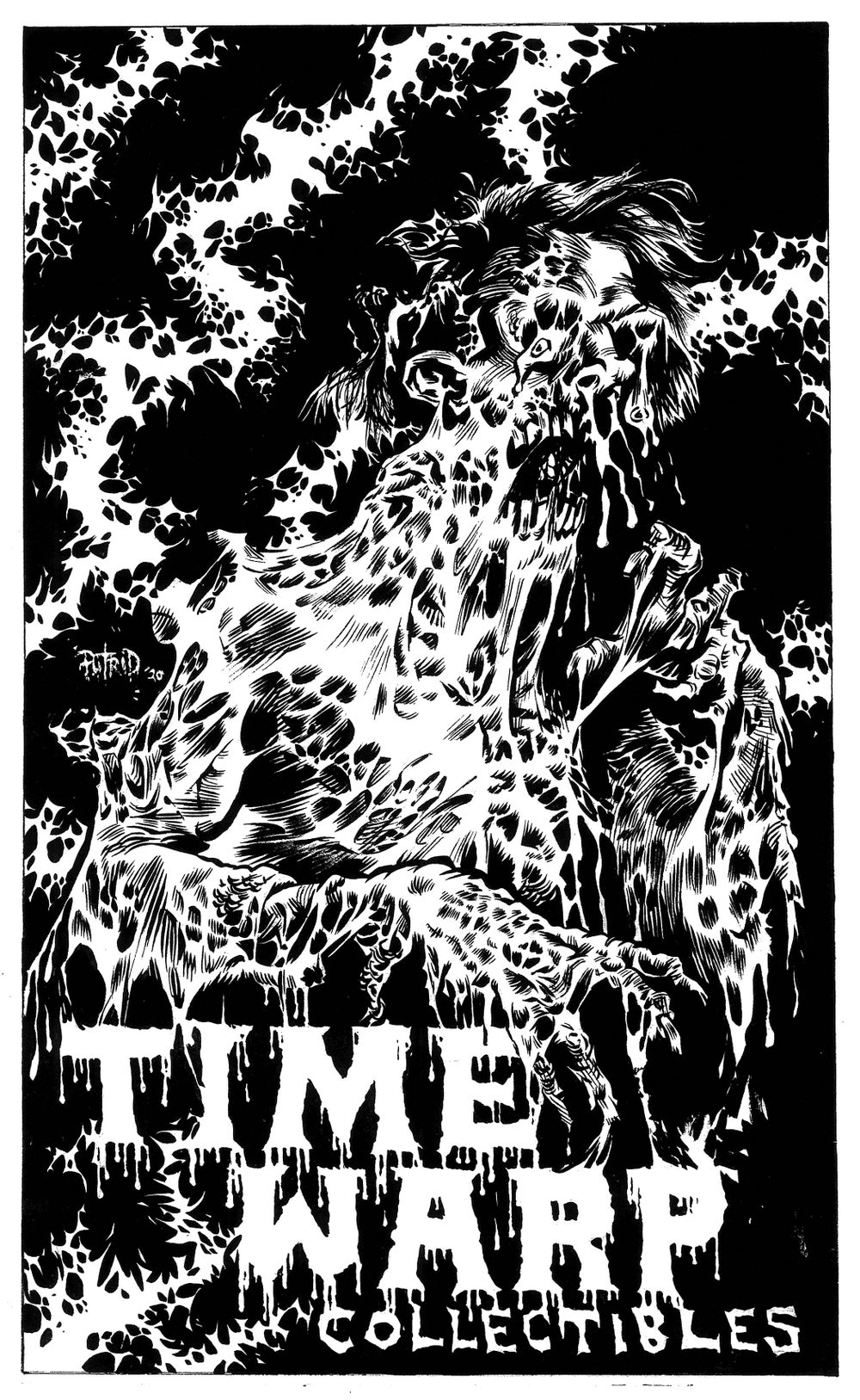 """2020 BLACK FRIDAY EXCLUSIVE! """"FACE MELTER"""" 11 x 17"""" Hand Numbered Print by PUTRID!"""