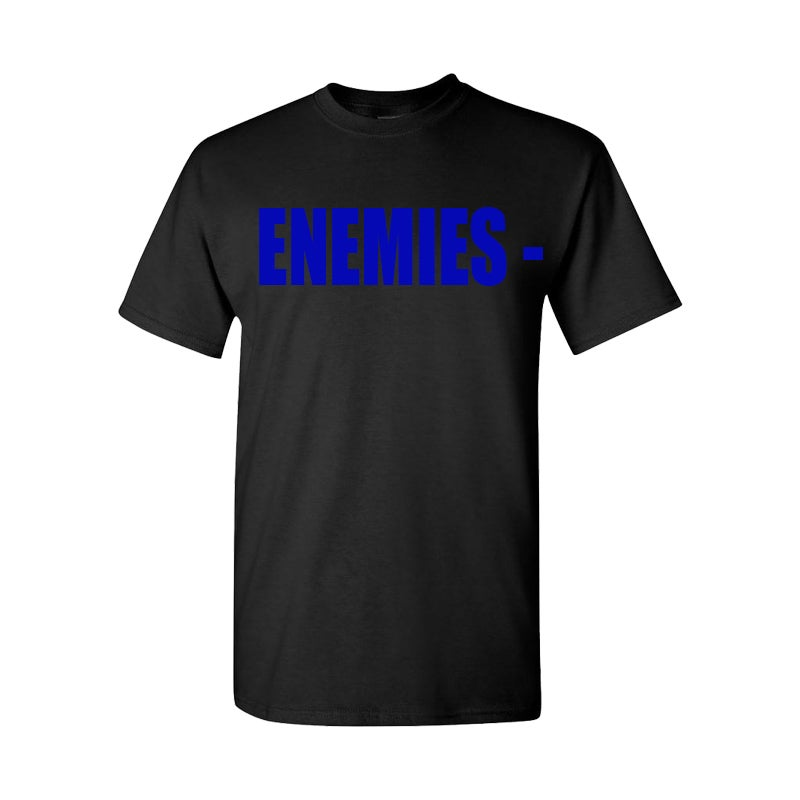 Image of BLACK ENEMIES TEE (BLUE)
