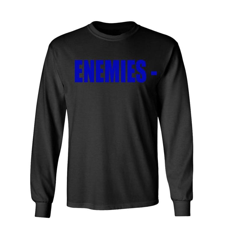 Image of BLACK ENEMIES LONGSLEEVE (BLUE)