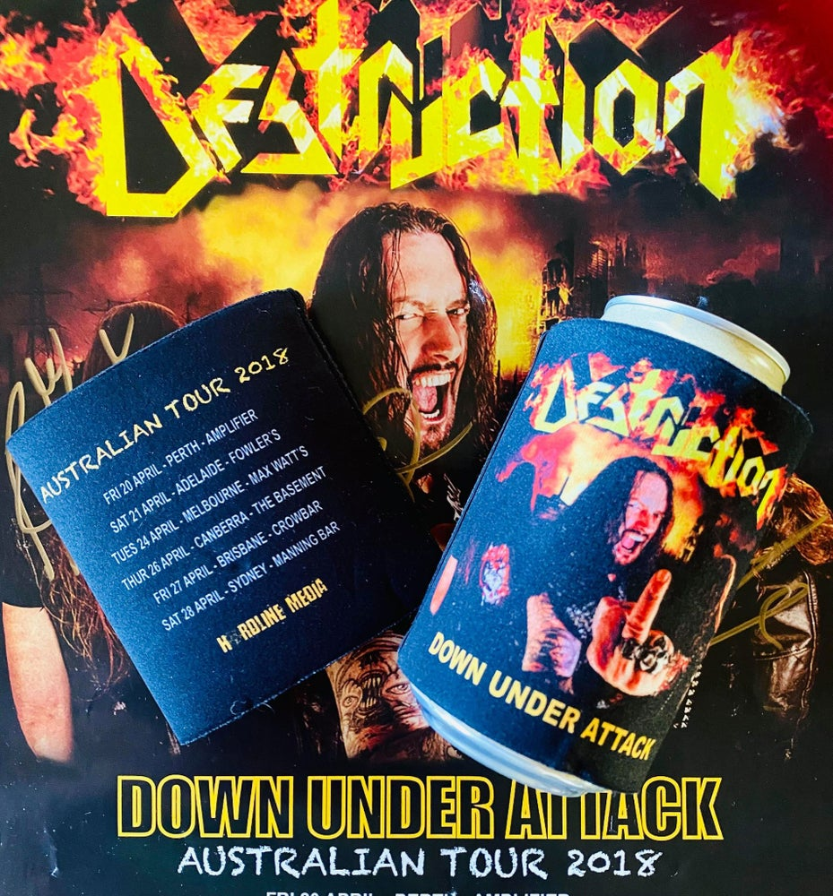 Image of DESTRUCTION - Down Under Attack - 2018 Aussie Tour Beer Cooler