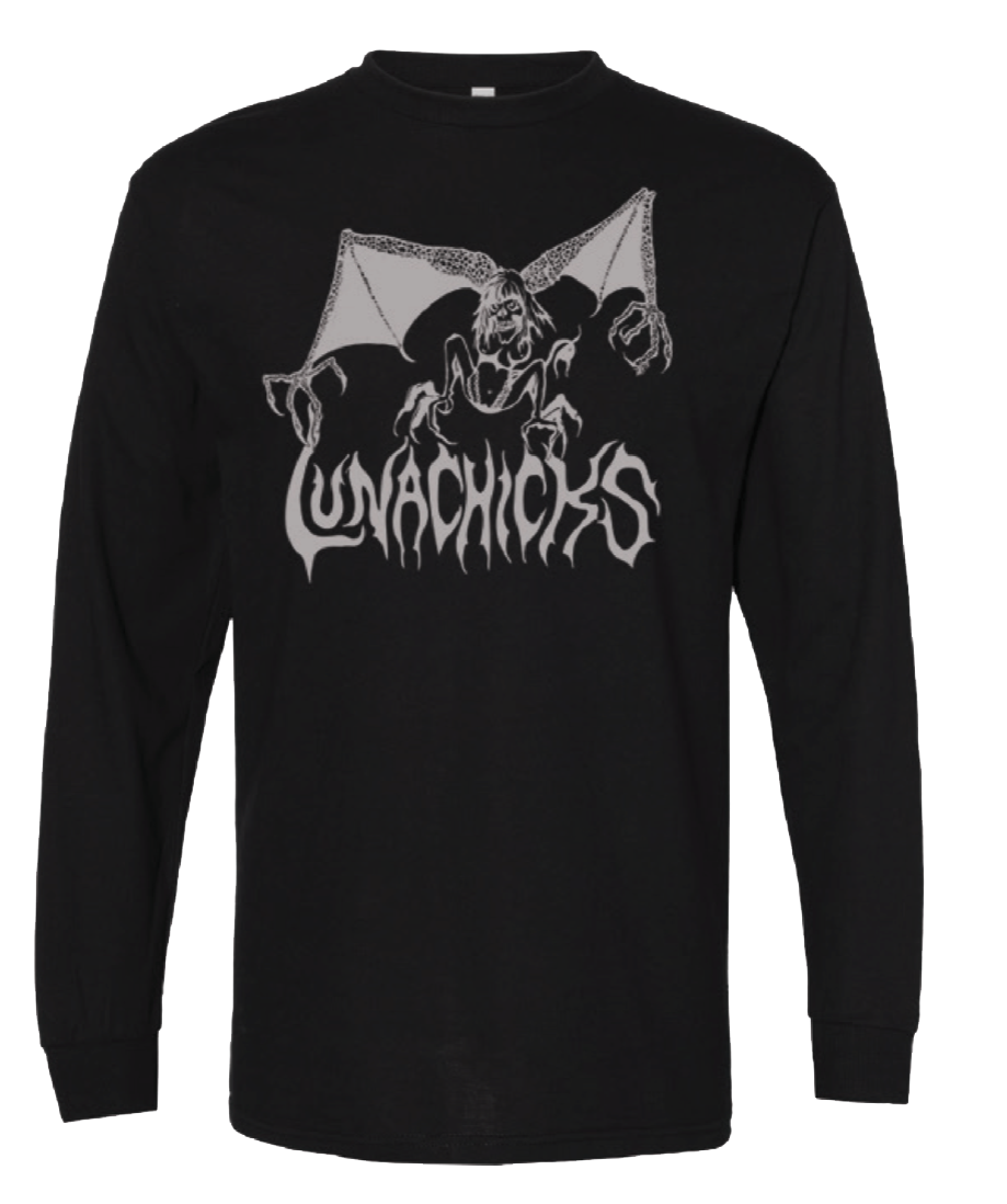 LUNACHICKS ORIGINAL BAT LADY LONGSLEEVE T-SHIRT