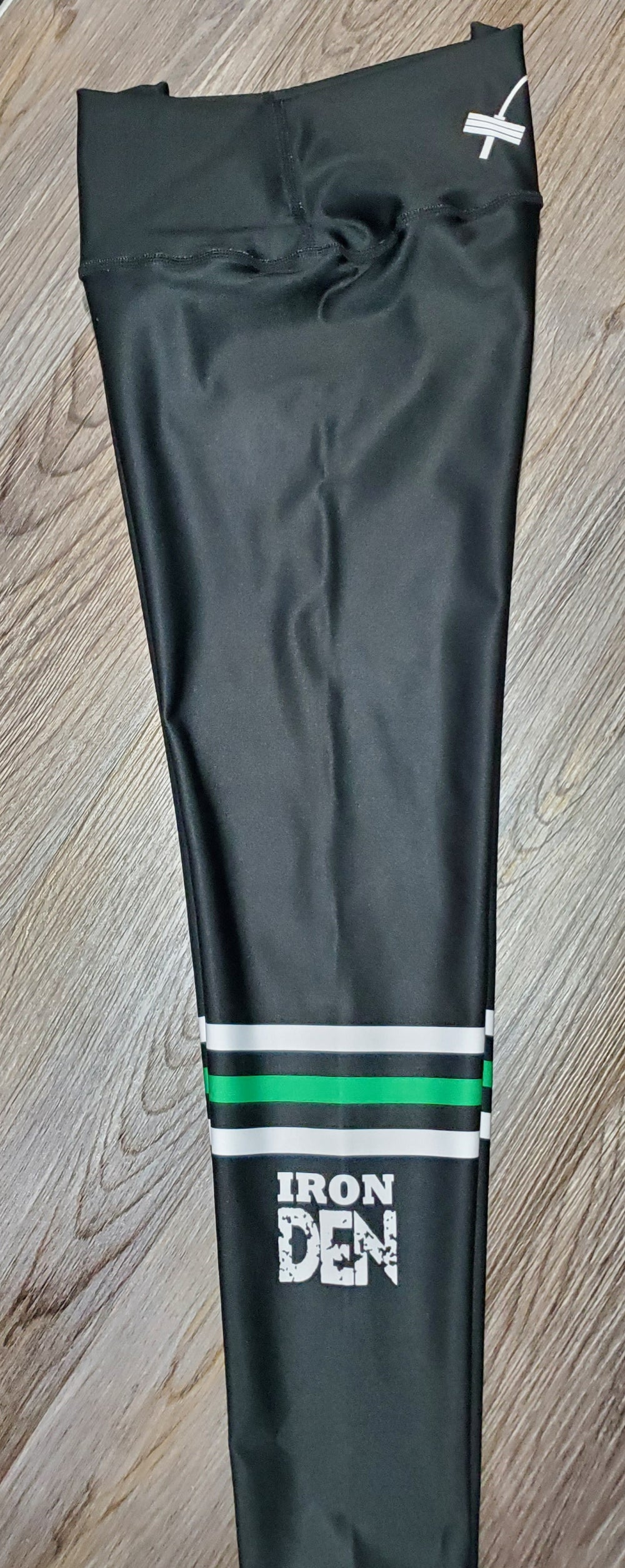 Womens leggings- Green/White