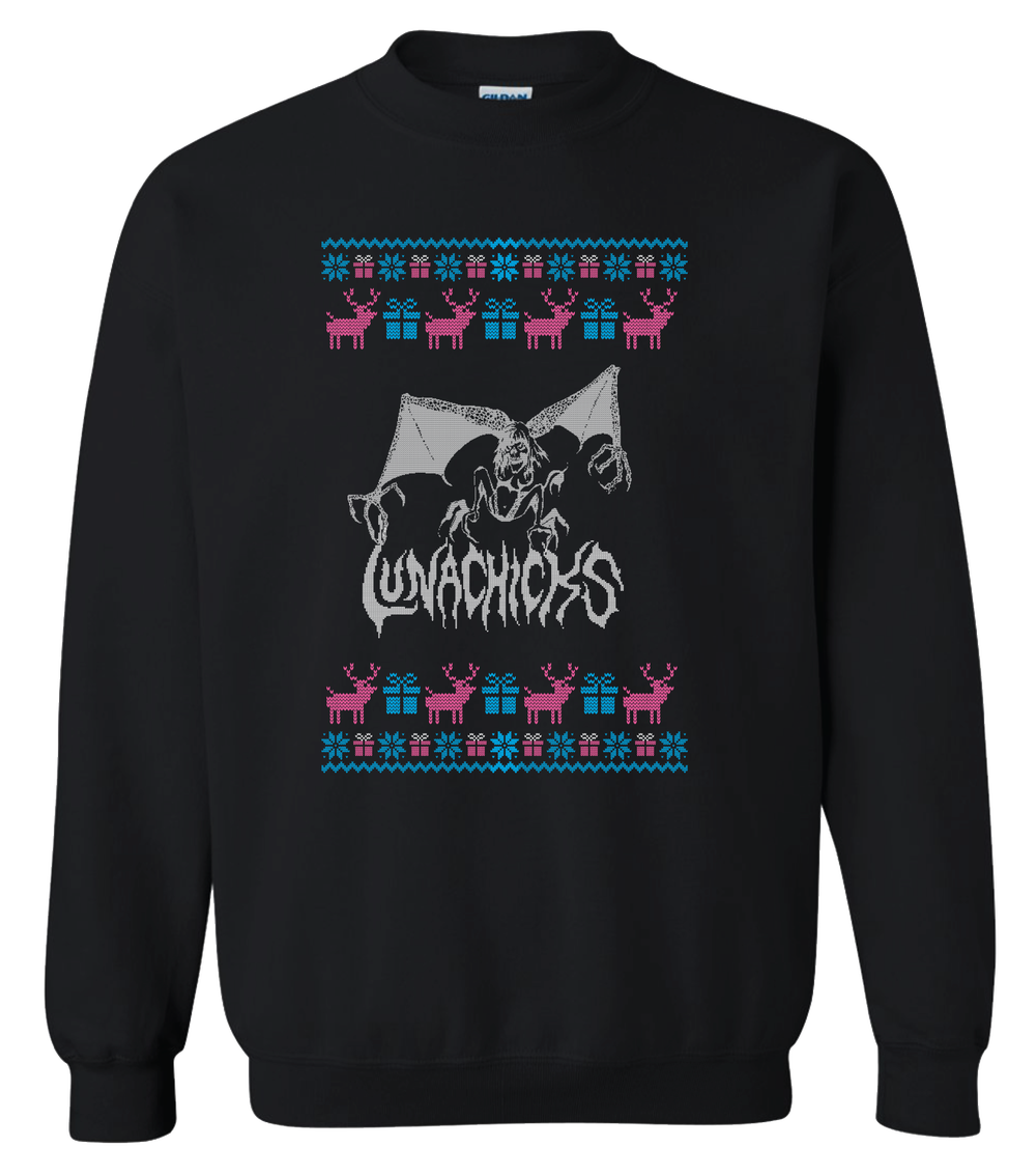 LUNACHICKS LIMITED EDITION BAT LADY UGLY CHRISTMAS SWEATER