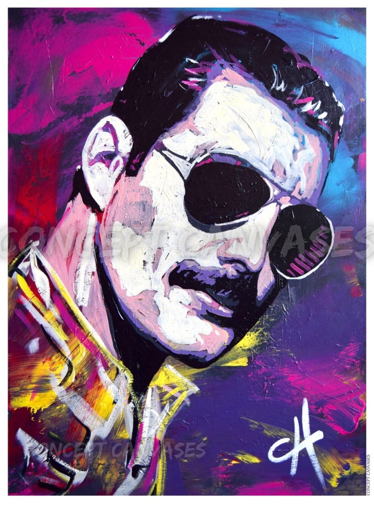 Image of Freddie Mercury 'One Of A Kind' A3 Print