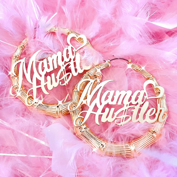 "Image of ""Mama Hustler"" Earrings GOLD"