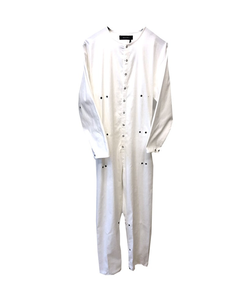 Image of Maja Brix x Prisca Vilsbøl Boilersuit - Organic cotton - white