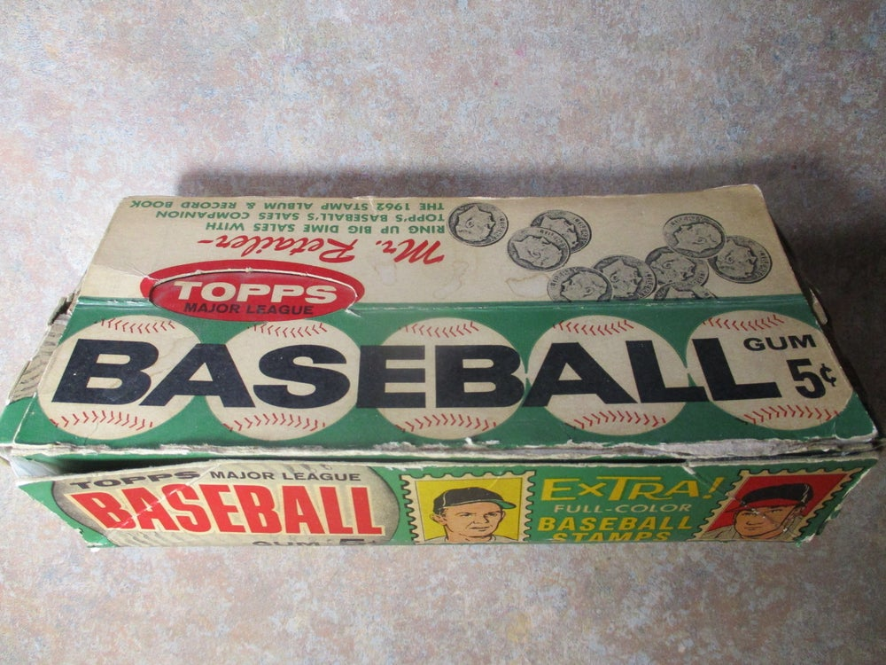 Terrific Baseball Relic--Original 1962 Topps Box