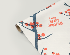 Image of Gift Wrapping Paper BERRY CHRISTMAS