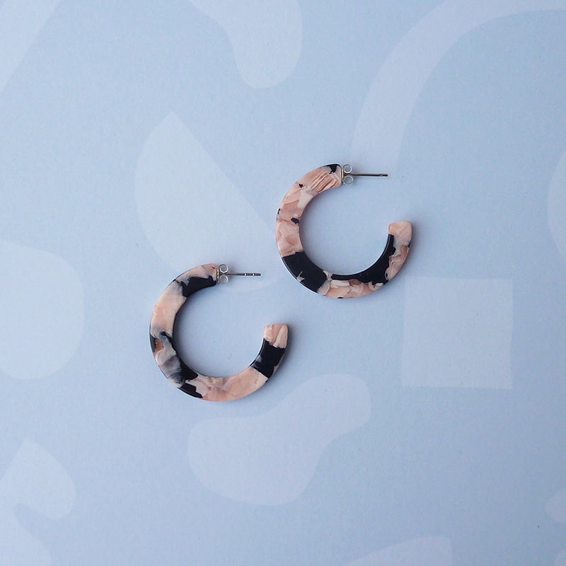 Image of *NEW* Rosea Midi Hoops