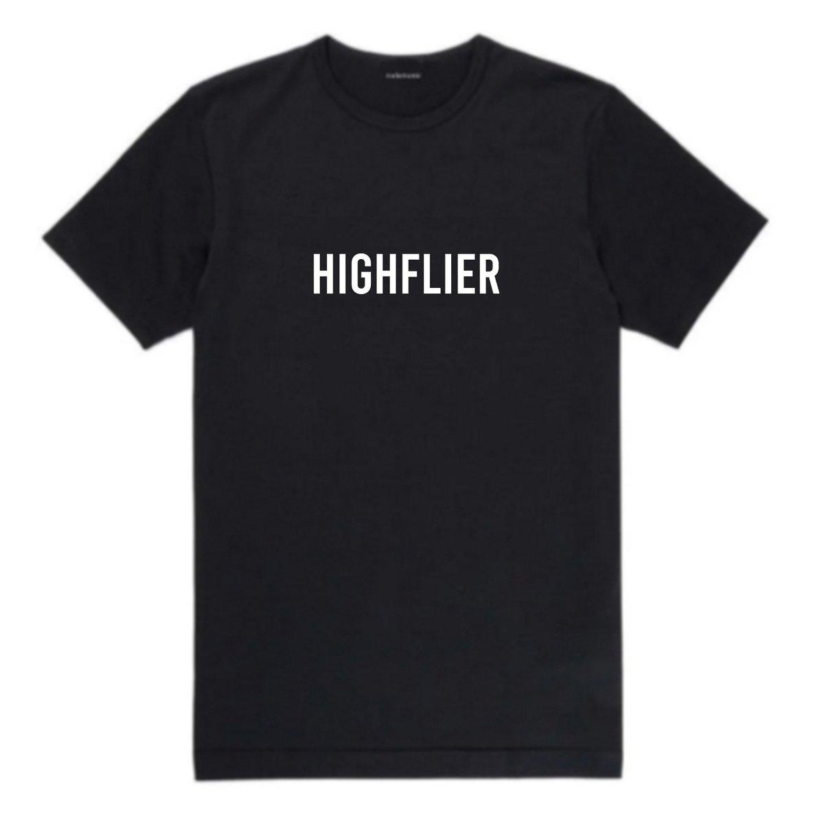 Image of 'Highflier' Slogan Black Tee