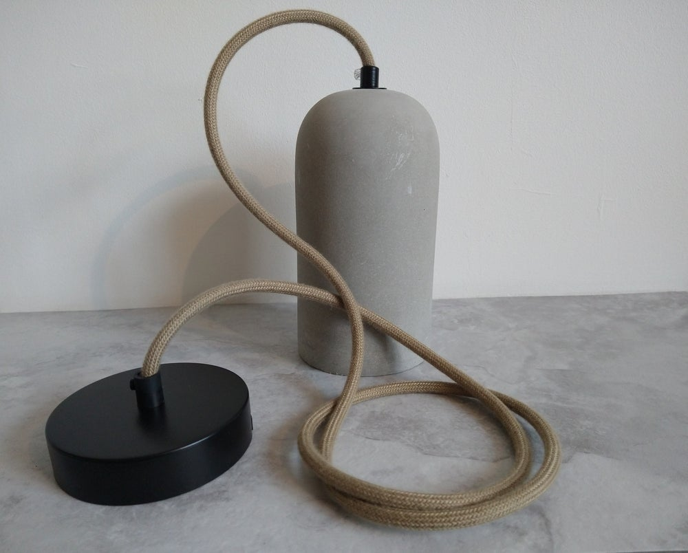 Image of Modern vintage cement pendant light