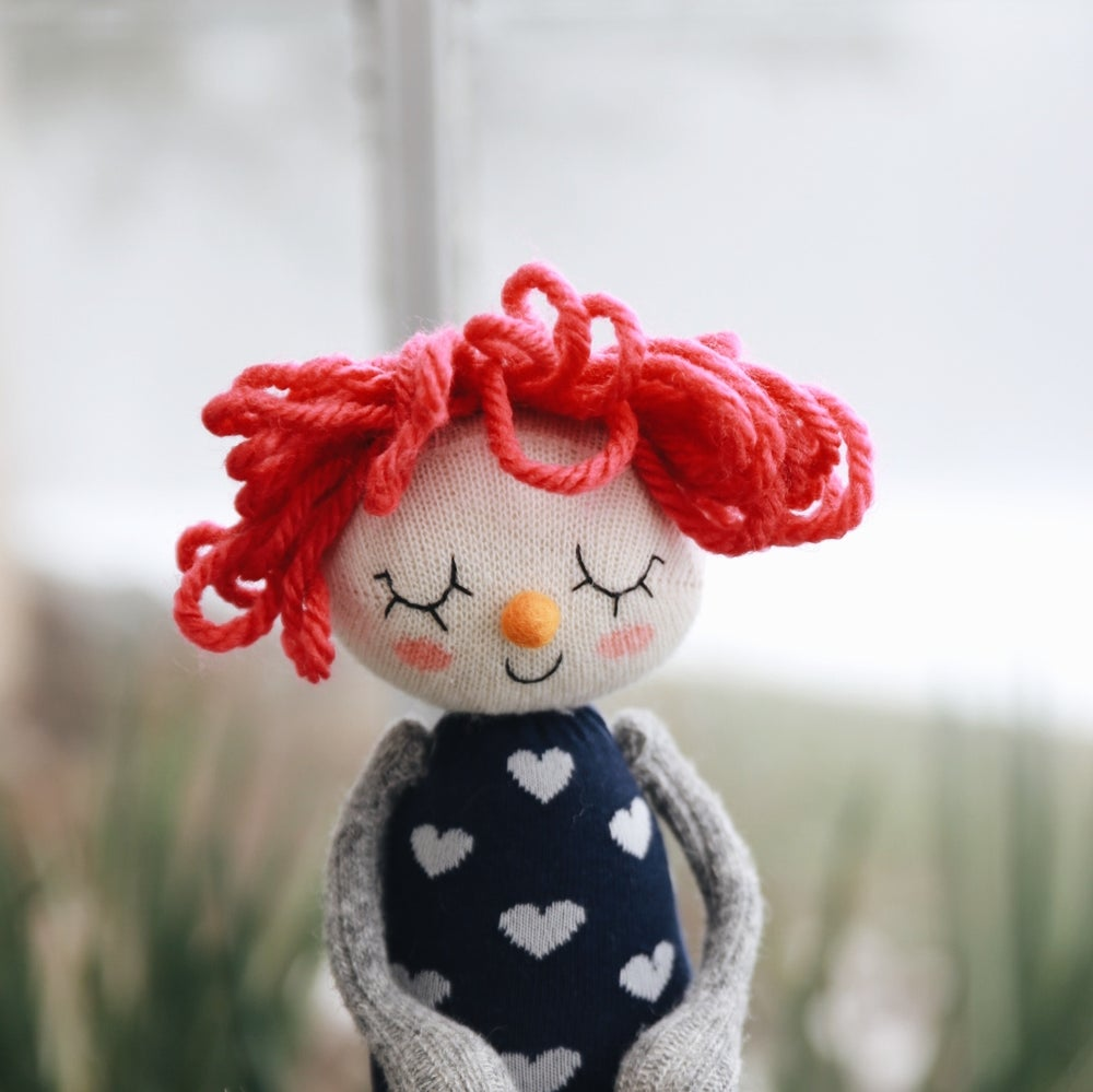 Image of Ina - Weighted Wool filled Sock Doll