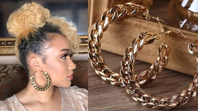 Image of Gold Chain Hoops