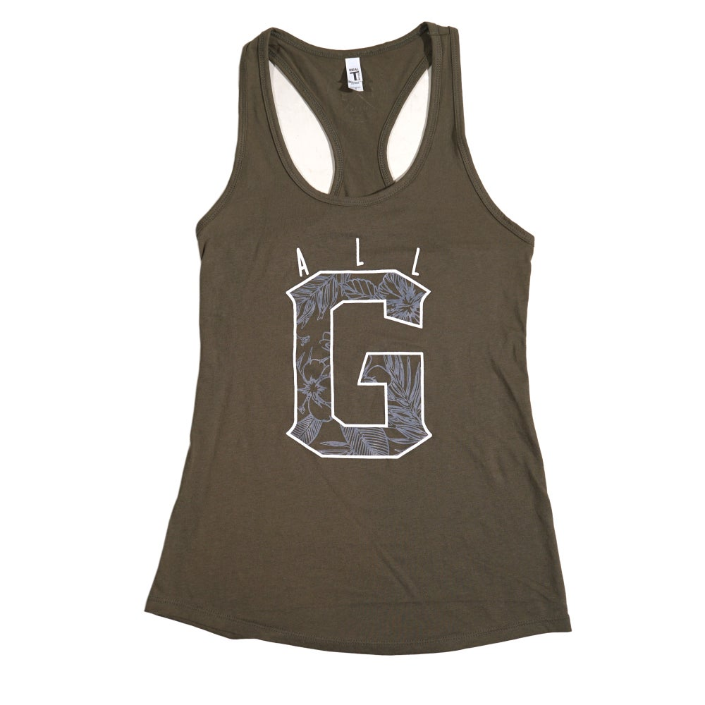 Image of ALL G FLORAL - LADIES TANK