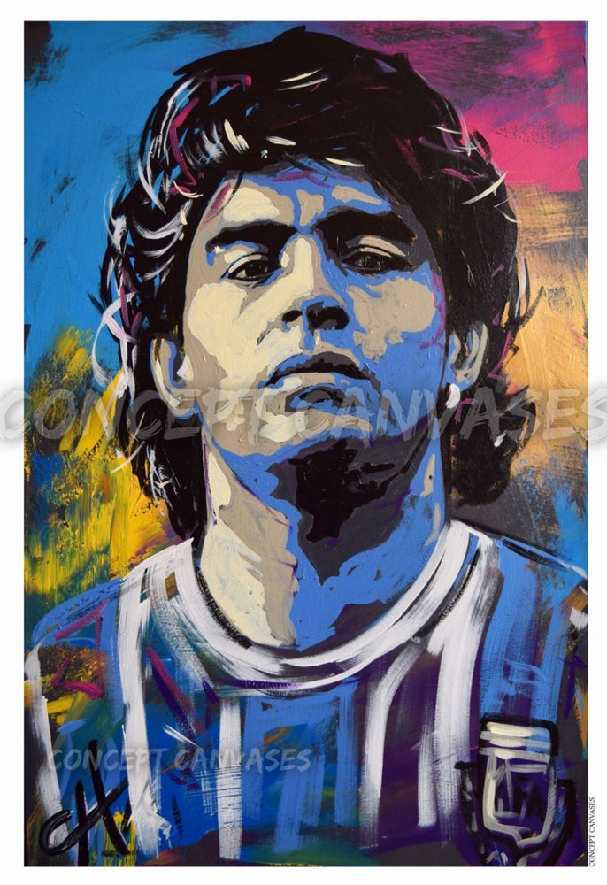 Image of Maradona 'Eternal' A3 Print