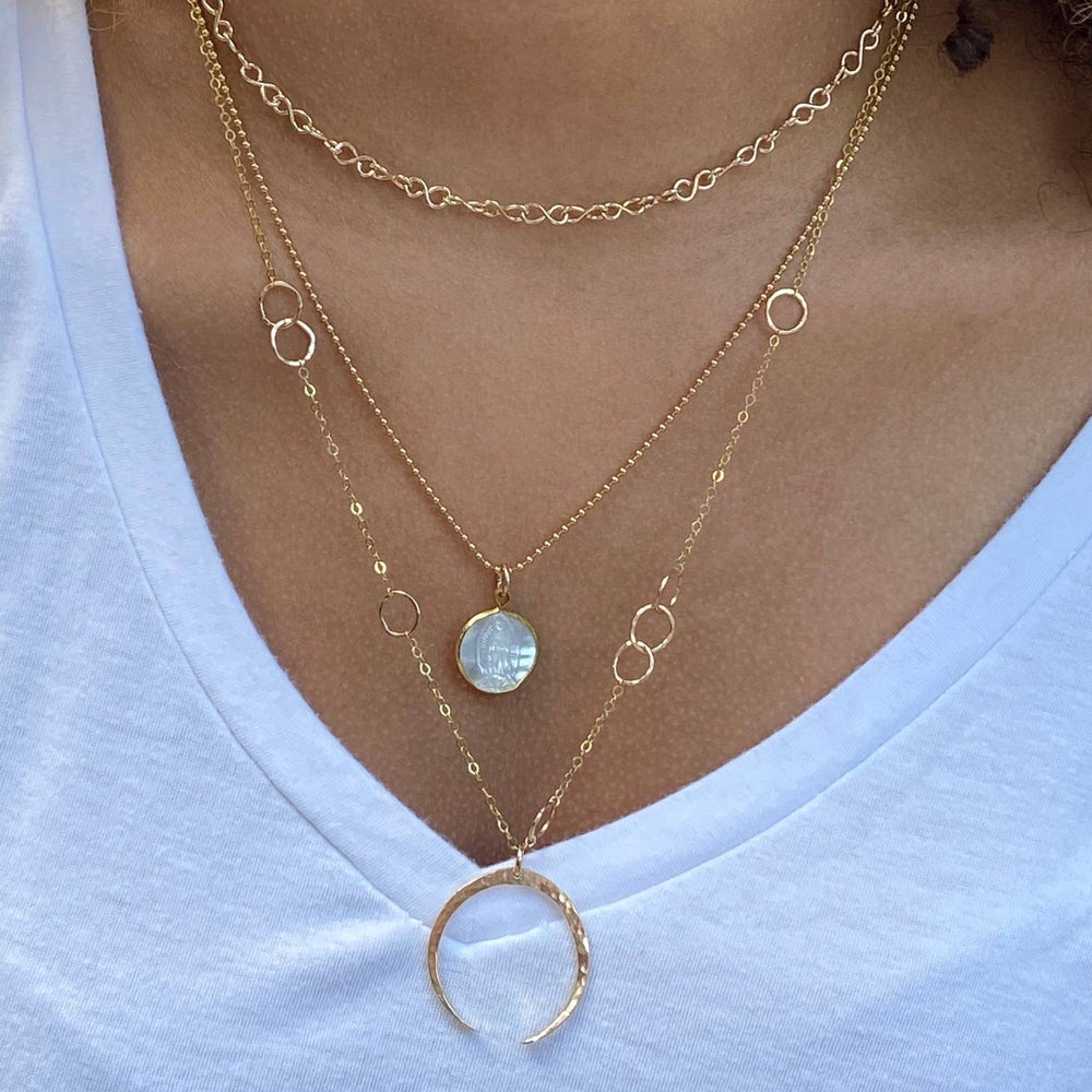 Image of Crescent Moon Layering Necklace