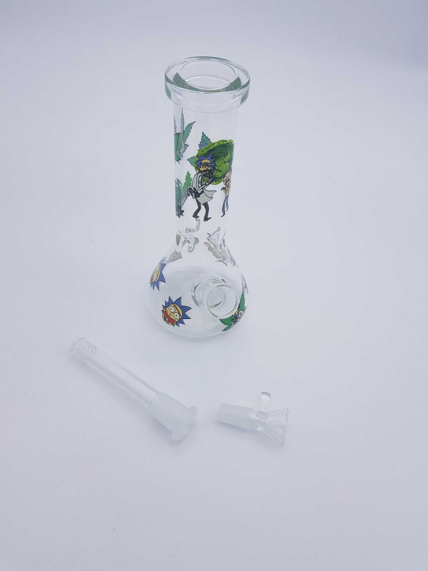 Image of Rick and Morty Bong with Downstem and Bowl