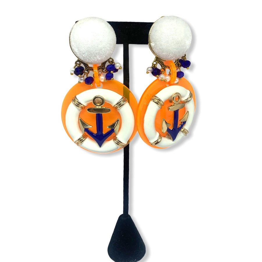 Image of Neon Anchor earrings