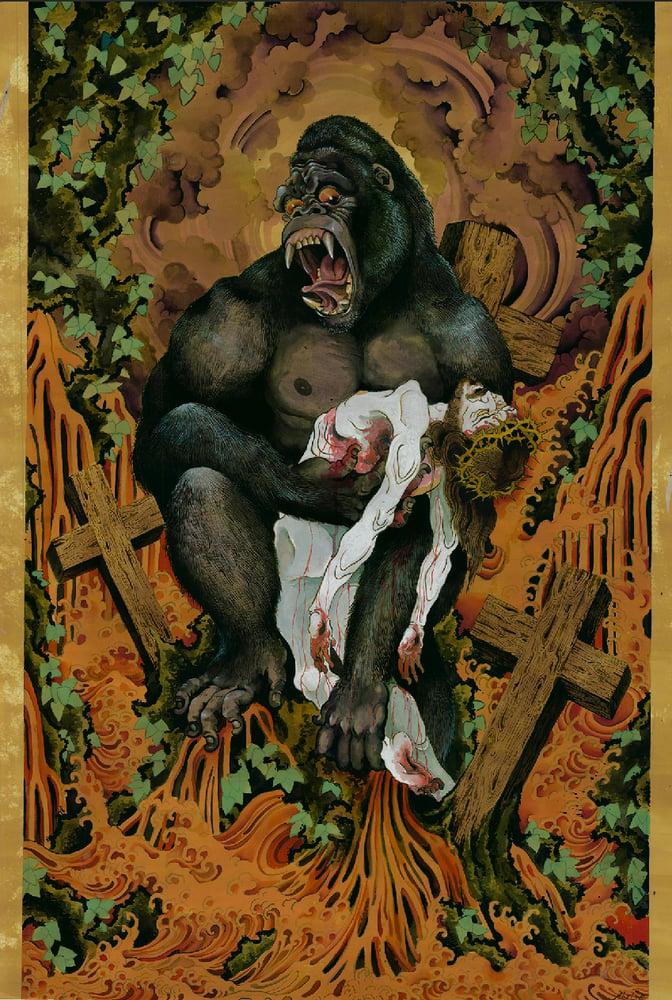 Image of - Original Painting - Gorilla