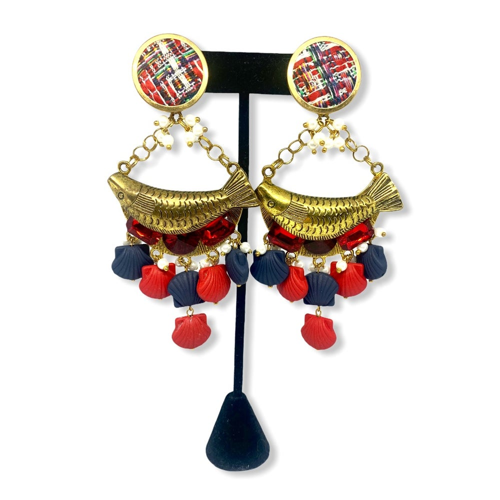 Image of Navy earrings