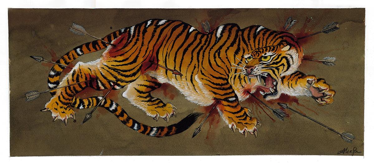Image of Original Painting - Tiger