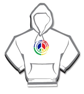 Image of Pass The Positive Peace Logo Hoodie