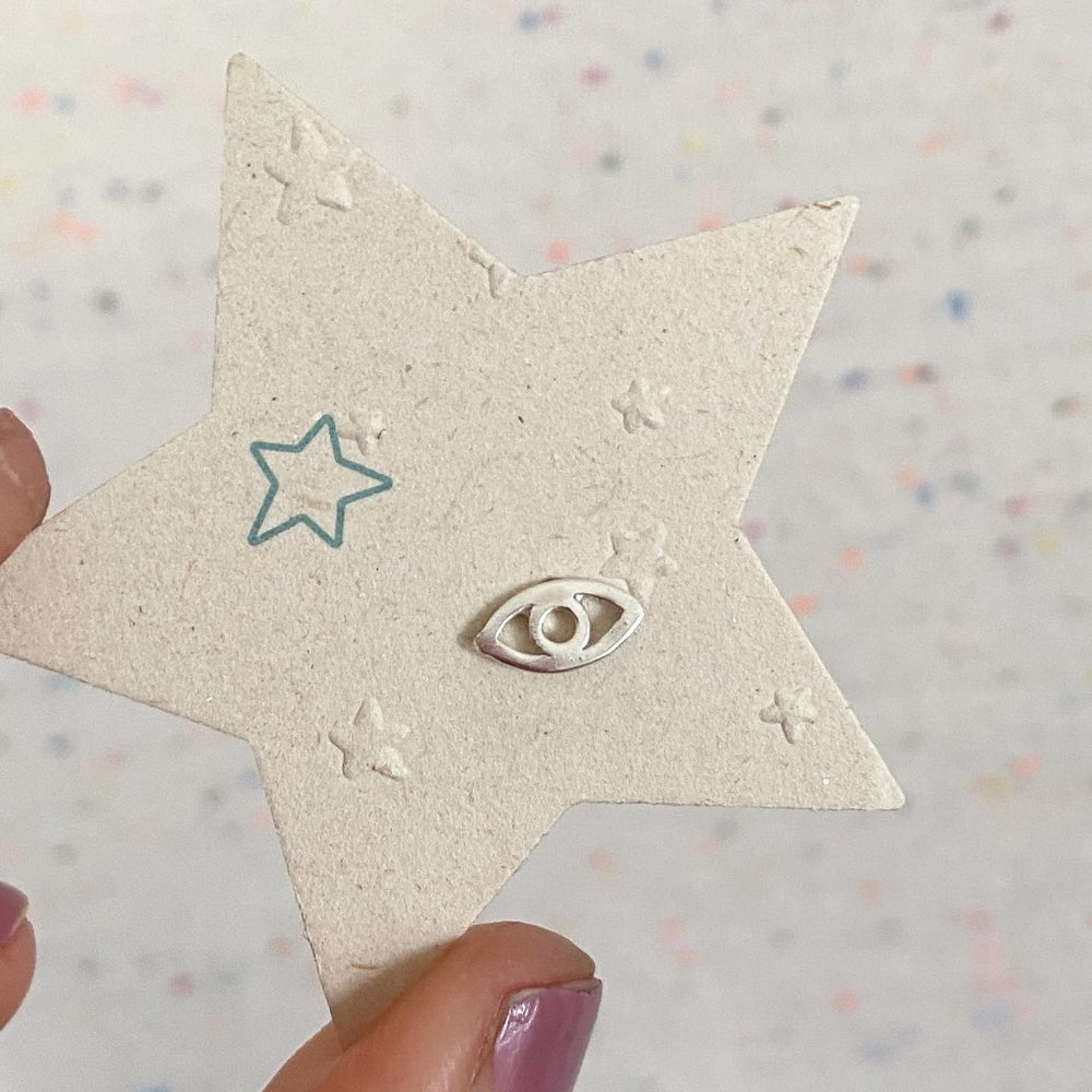 Image of evil eye stud