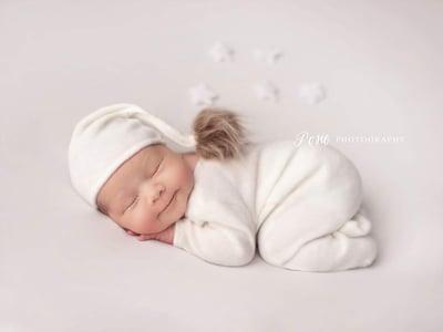 Image of Beautiful Footed newborn pyjamas. Ready to post